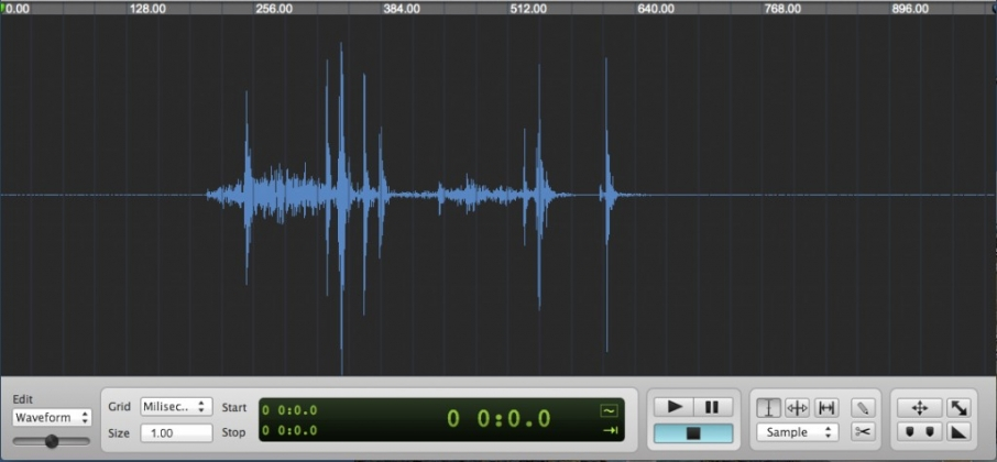 The Sony A7R shutter release shown in waveform.