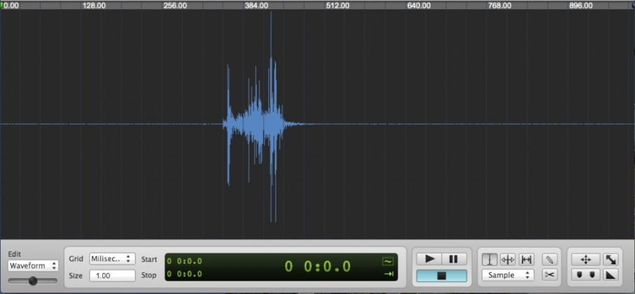 The waveform of the Sony NEX-7 at 1/60 sec.